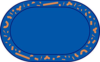 Building Blocks Oval Rug 4' x 6' (MS)