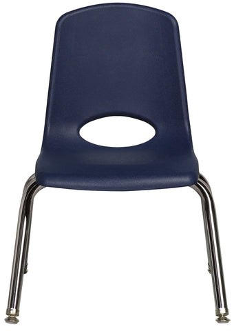 12 inch Stack Chair, Navy, Chrome Swivel Glide (MS)