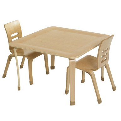30in Square Bentwood Table, Natural, (MS)