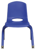 10inch Stack Chair, Blue, Painted Swivel Glide (MS)