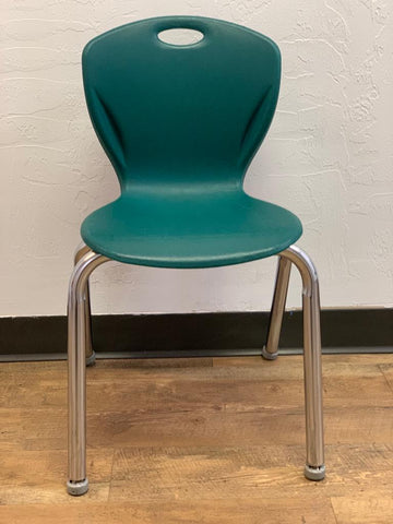 "16"" Artco Bell Discovery Student Chair, Hunter Green (RF)"