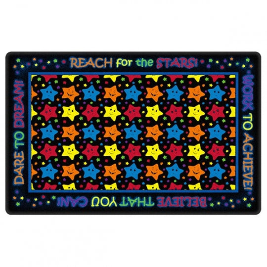Reach For The Stars Black Rug 7'6 x 12' (MS)