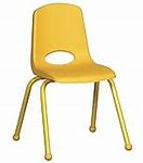10inch Stack Chairs, Yellow, Painted Ball Glide (MS)