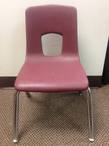 14in Artco Bell Uniflex Series Student Chair, Burgundy (RF)