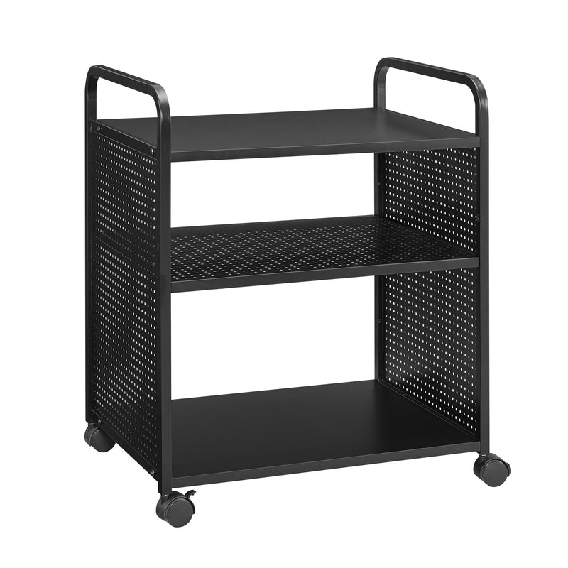 Aubrie 3 Shelf Rolling Cart