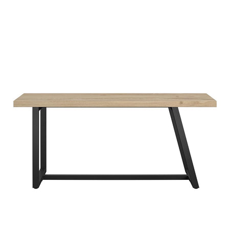 Linden Wood and Metal Dining Bench
