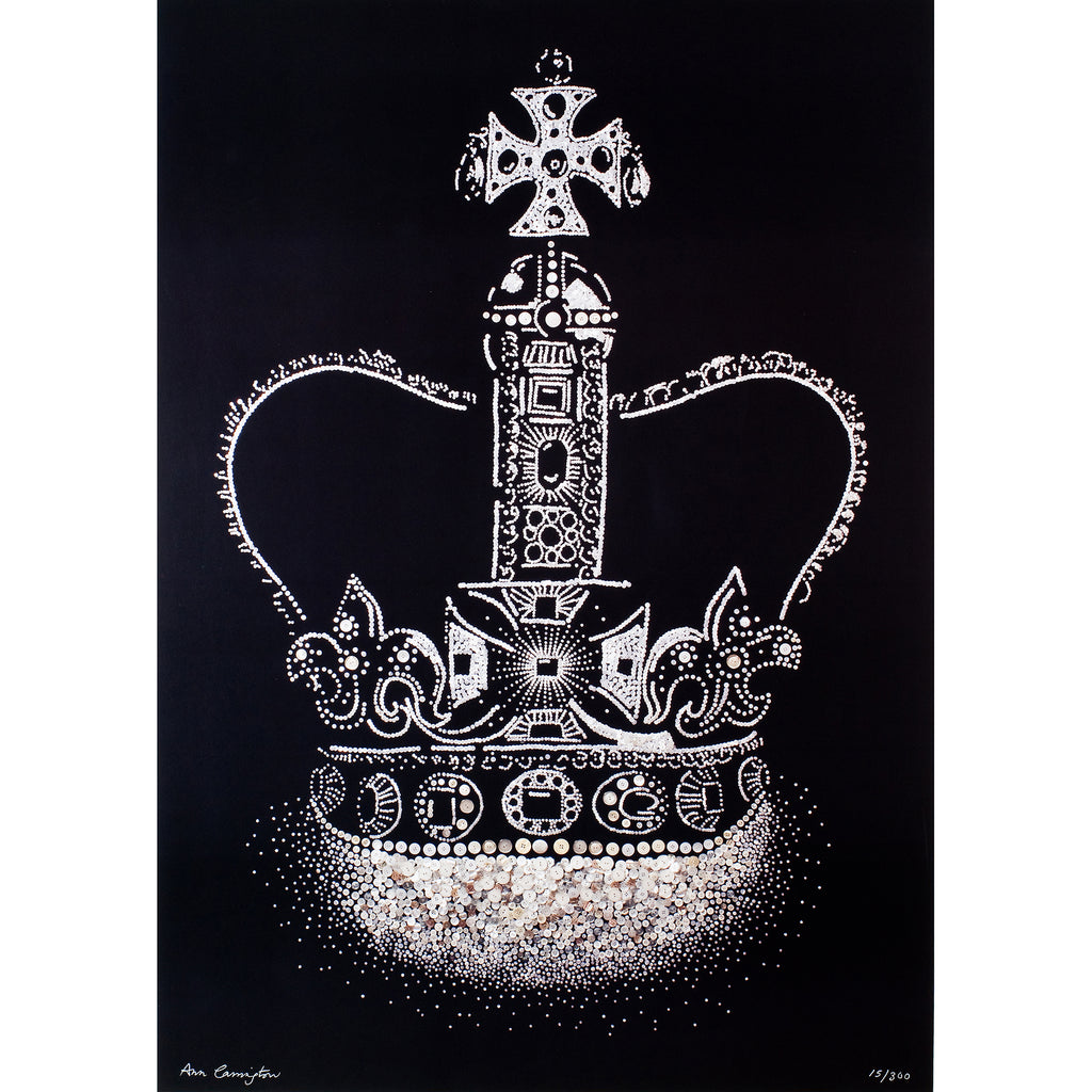 Pearly Crown Jewels of England Print by Ann Carrington