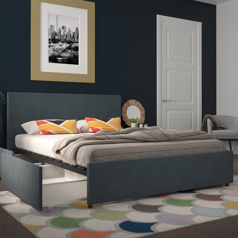 Kelly Upholstered Bed with Storage Drawers