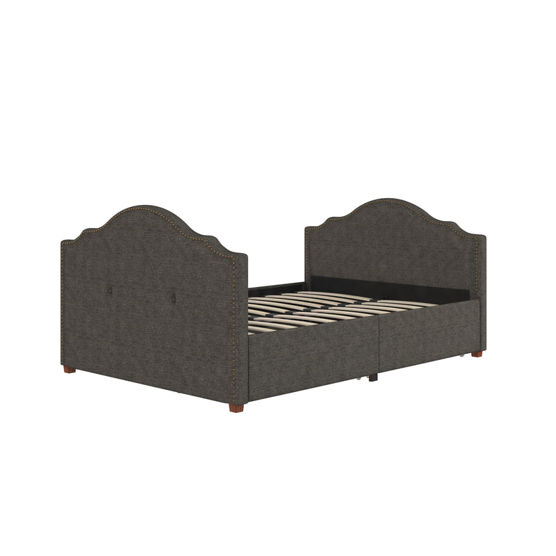 Emma Upholstered Daybed with Drawers