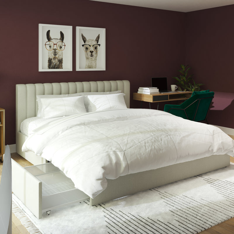 Brittany Bed with Storage Drawers