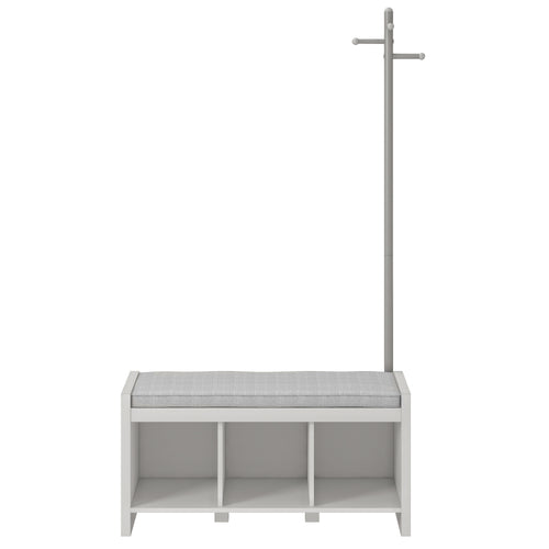 Whitton Entryway Bench with Coat Stand