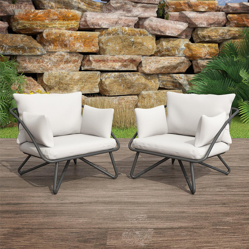 Teddi Outdoor Lounge Chairs (Set of 2)