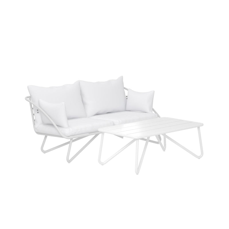 Teddi Outdoor Loveseat + Coffee Table Set