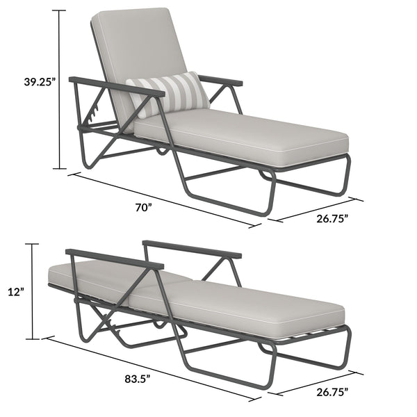 Connie Outdoor Chaise Lounge