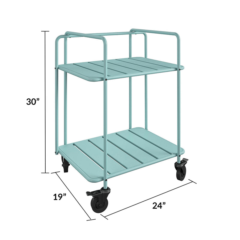 Novogratz xo SJP Collection: Penelope Indoor/Outdoor Cart