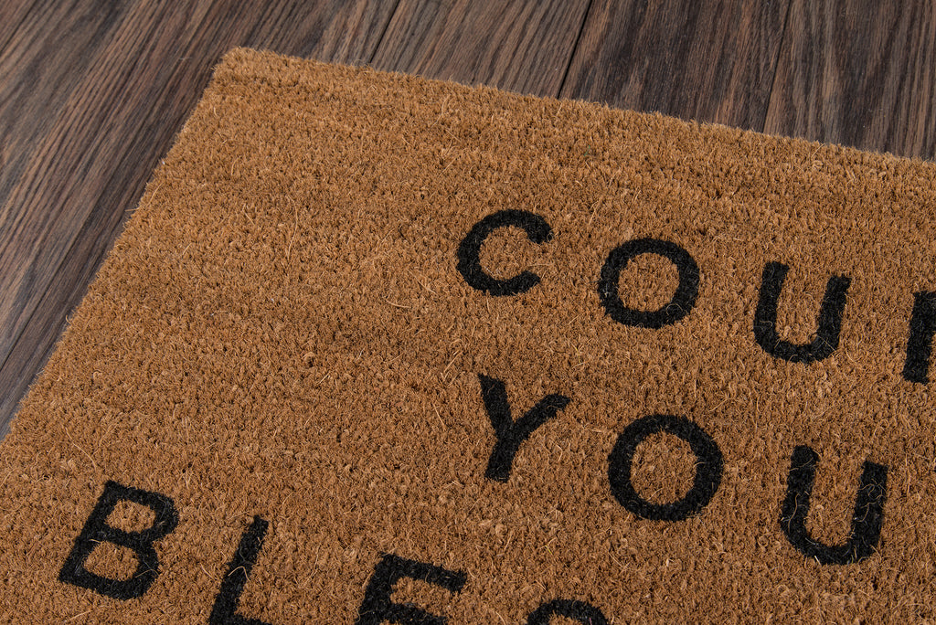 Count Your Blessings Doormat - Natural