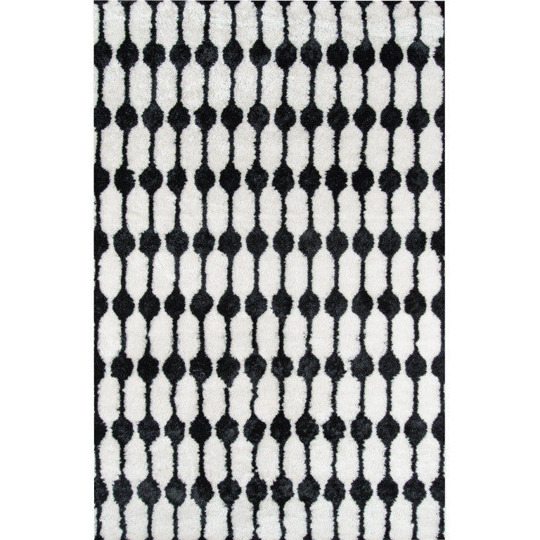 Retro Stockings Shag Rug - Black