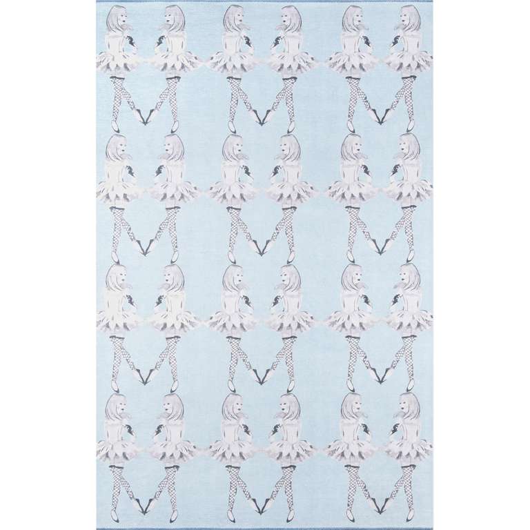Dancing Girls Rug - Blue