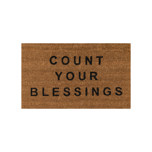 Count Your Blessings Natural Doormat