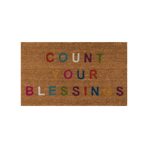Count Your Blessings Multi-Colored Doormat