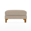 Bowen Ottoman with Contrast Piping