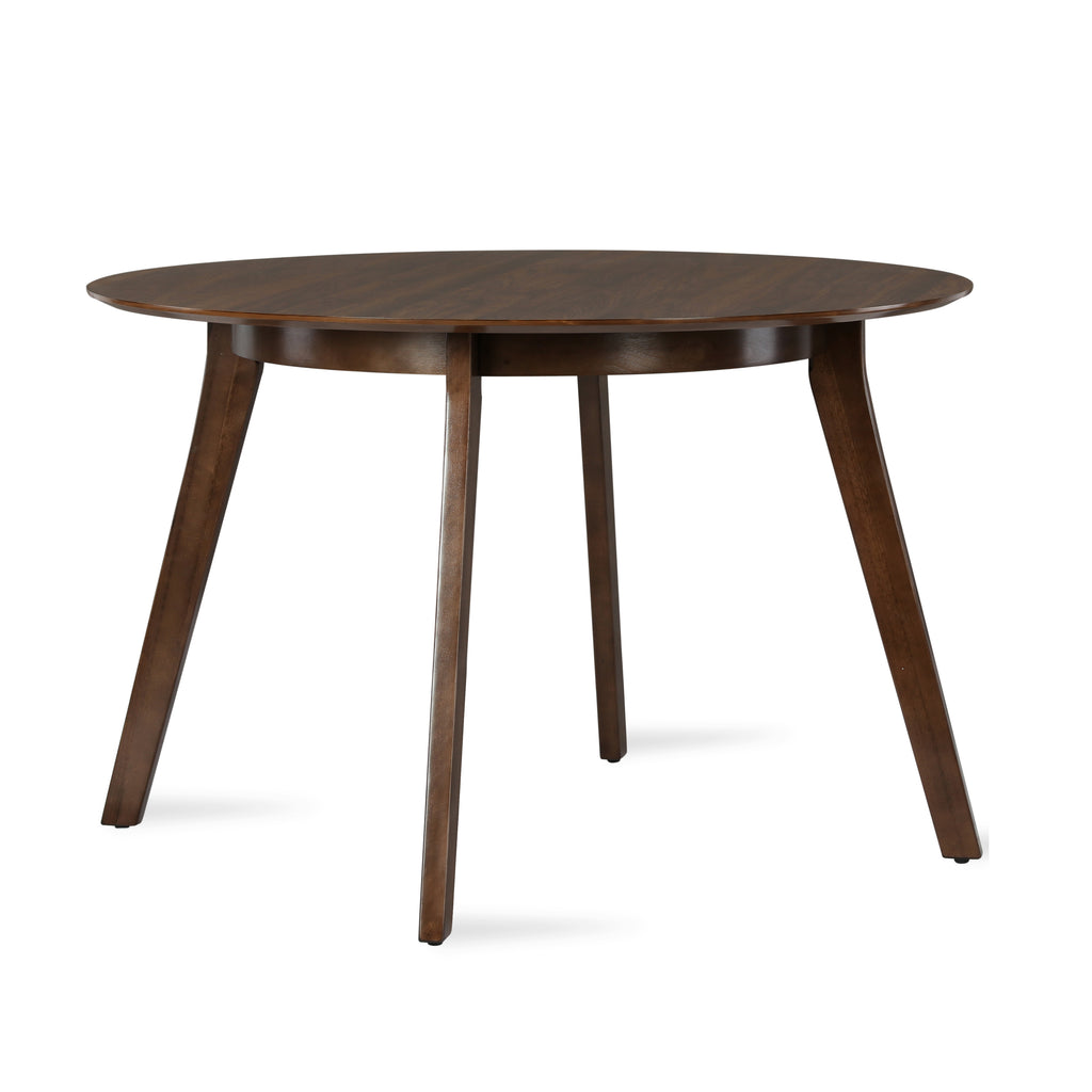 henley mid century round dining table. Black Bedroom Furniture Sets. Home Design Ideas