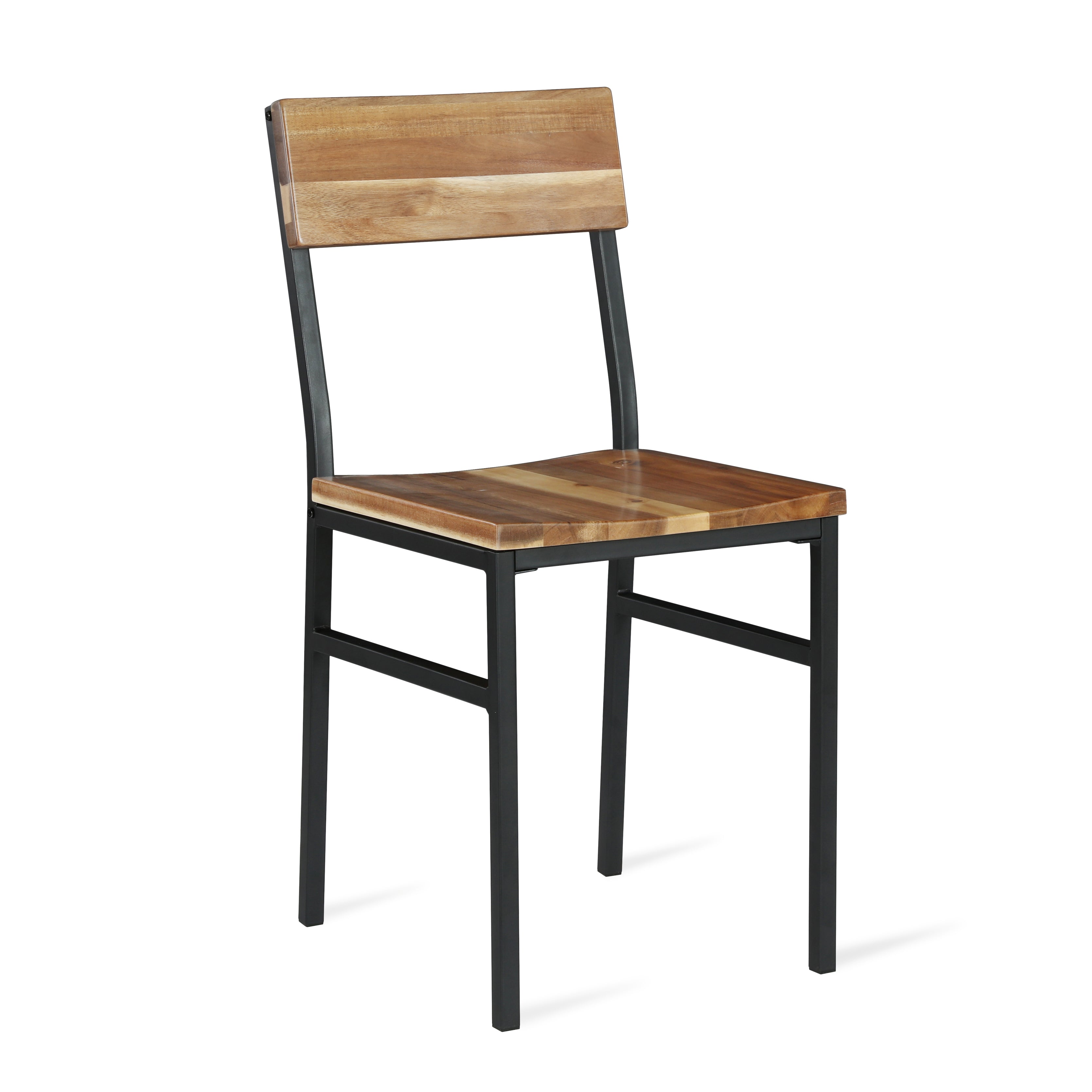 Linden Wood And Metal Dining Chairs Set Of 2