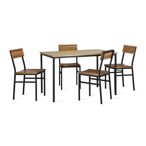 Linden 5-Piece Wood and Metal Dining Set