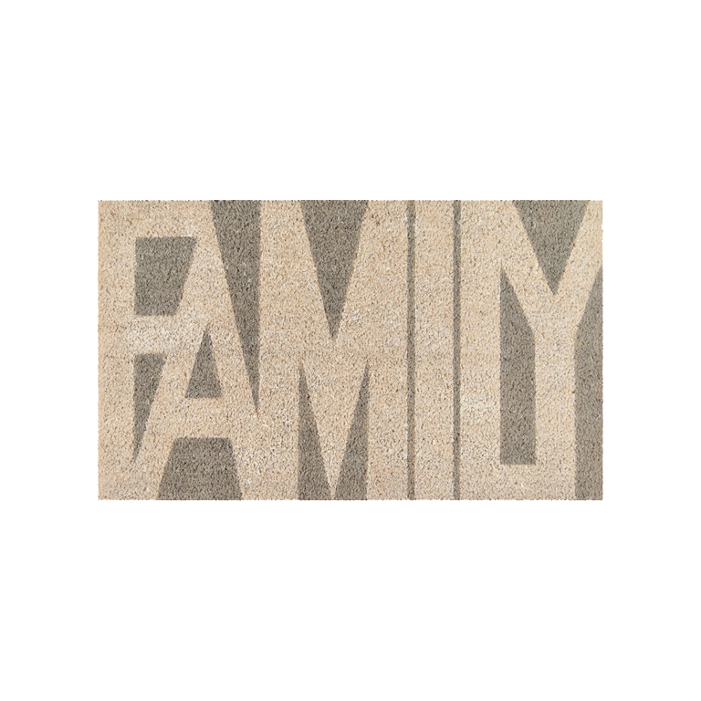 Family Doormat - Grey