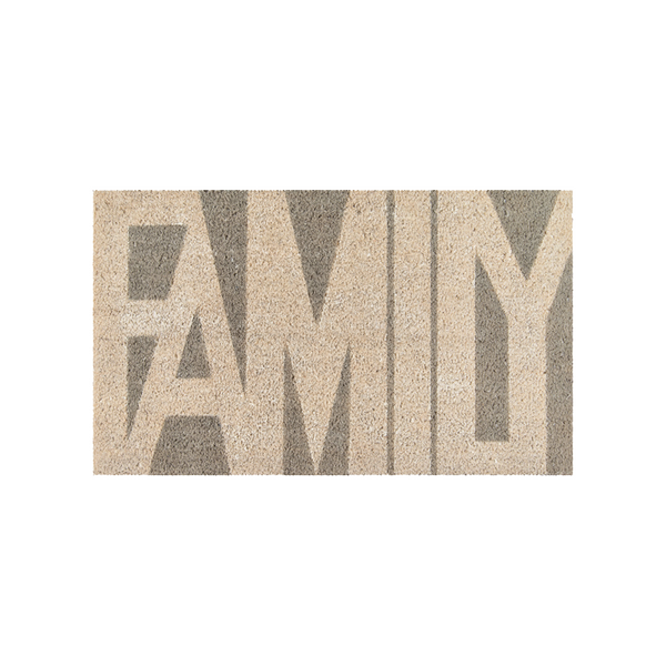 Family Gray Doormat