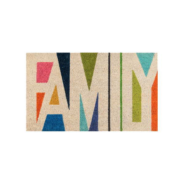 Family Multi-Colored Doormat