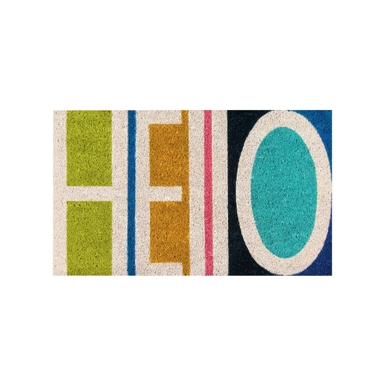 Hello Doormat - Multicolored