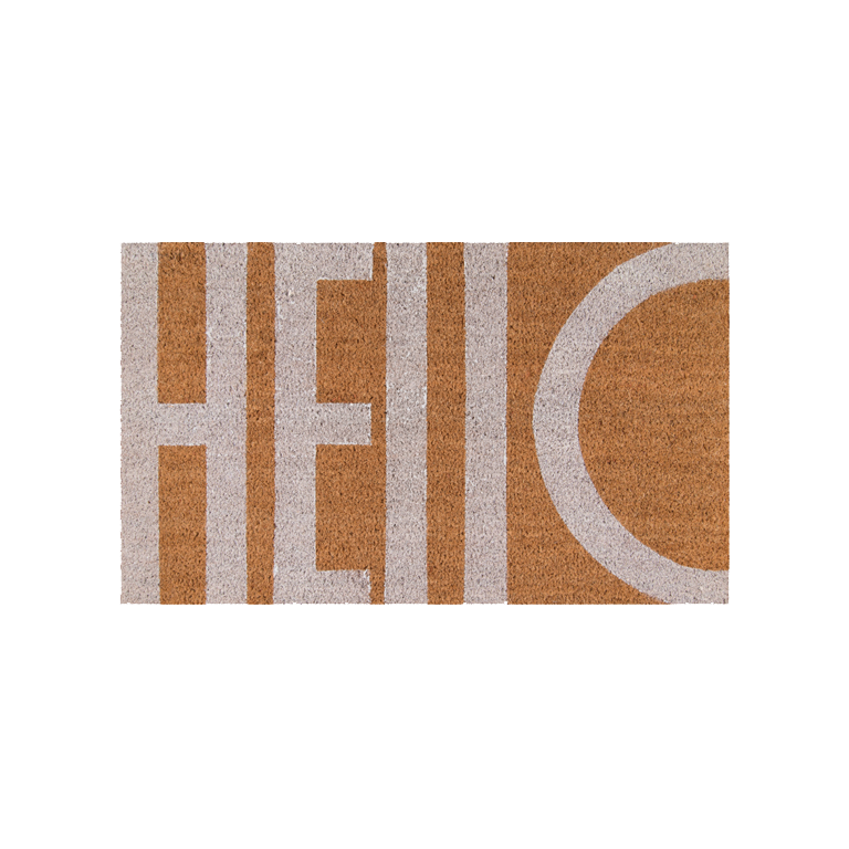 Hello Doormat - White