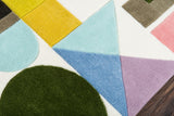 ABC Shapes Playroom Rug CLose