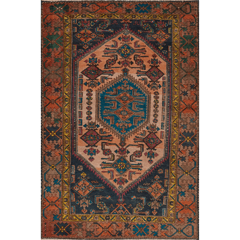 "One of a Kind, 100% Wool Rug: 4'1"" x 6'2"""