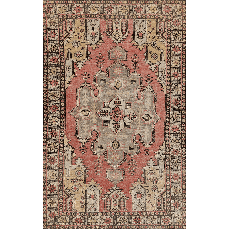 "One of a Kind, 100% Wool Rug: 4'1"" x 6'5"""