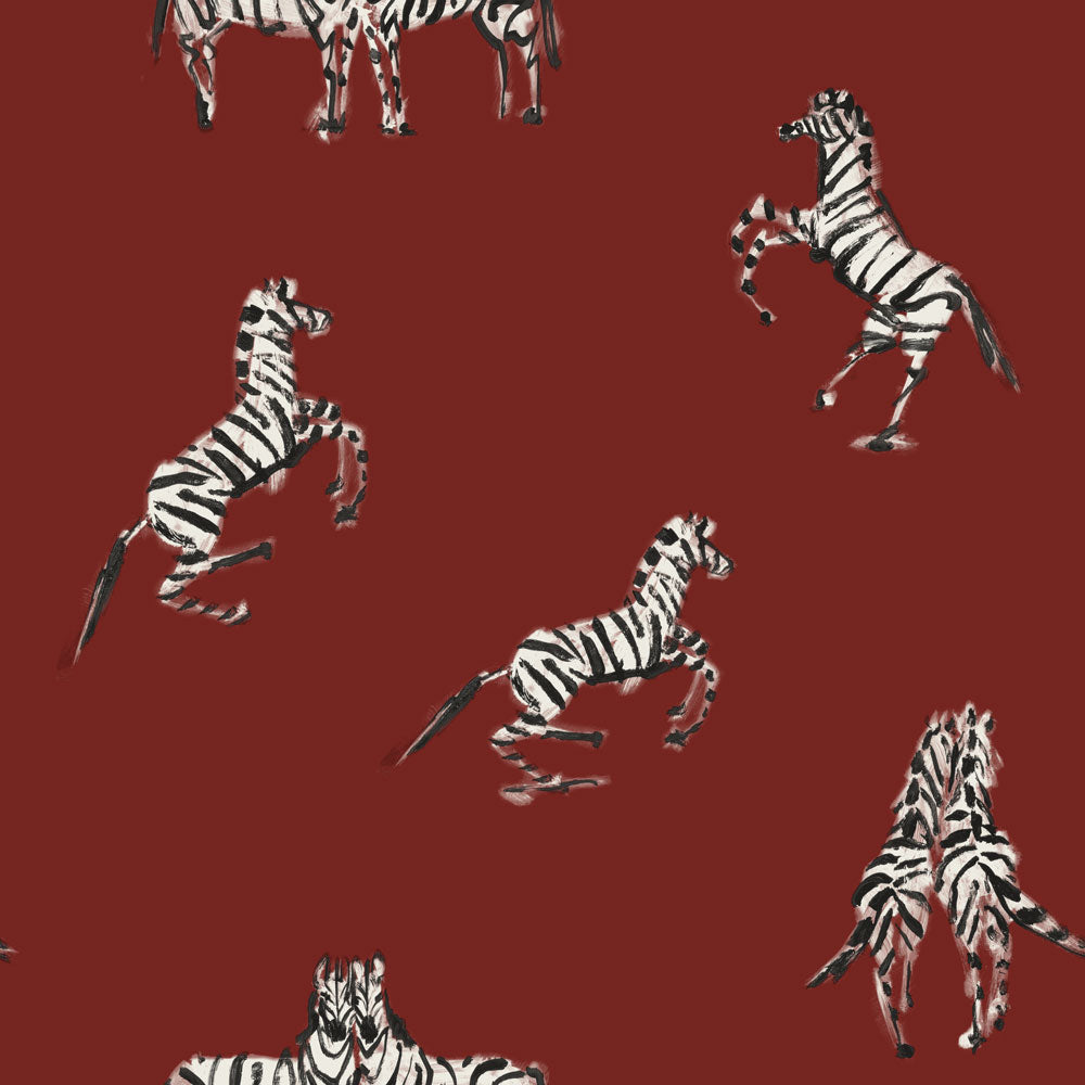 Zebras in Love - Love Red
