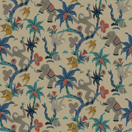 Block Print Floral Wallpaper