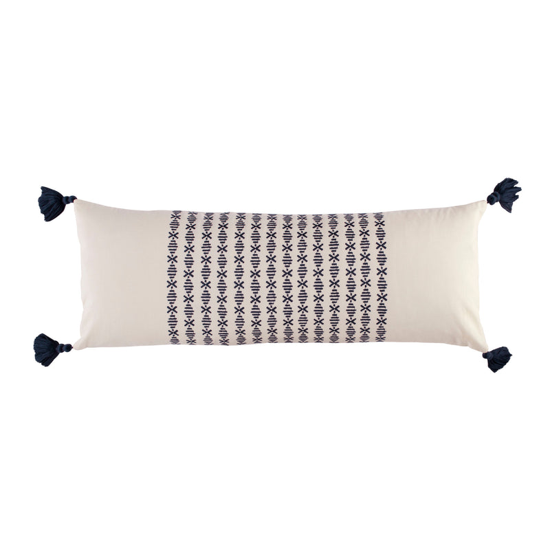 Layla Navy Bolster Pillow