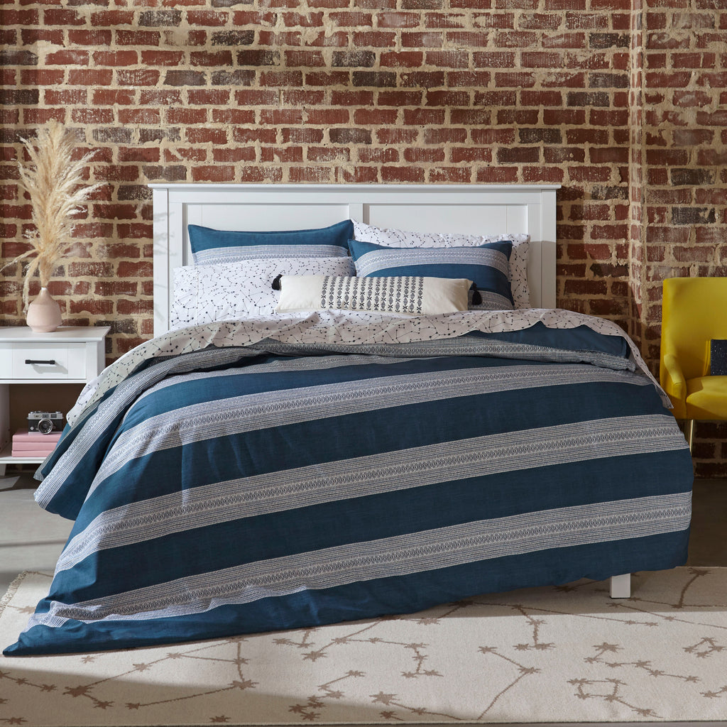 Pippa Duvet Set - Navy