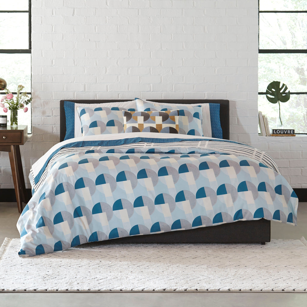 Skye Geo Blue Duvet Set