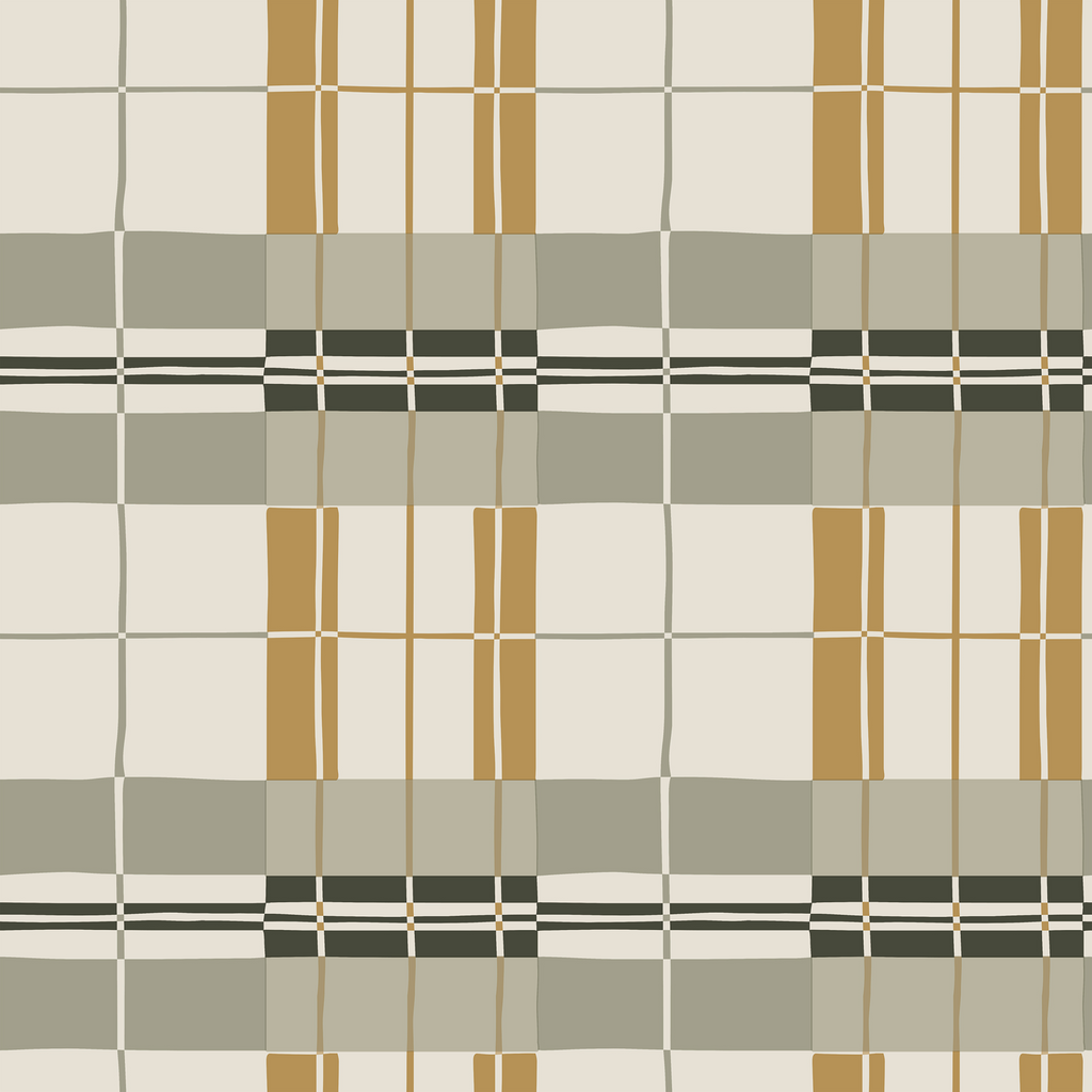Paired Black Plaid Wallpaper
