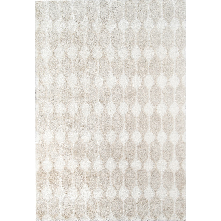 Retro Stockings Shag Rug - Taupe