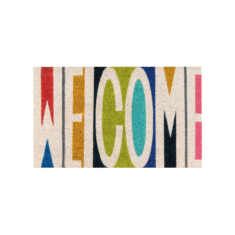 Welcome Doormat - Multicolored