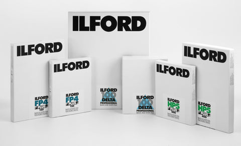 Ilford Delta 100 Professional 13x18cm - 25 Sheets - viewcamerastore