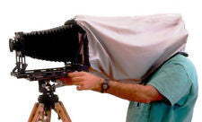 4x5 BTZS Focus Hood (dark cloth) - viewcamerastore