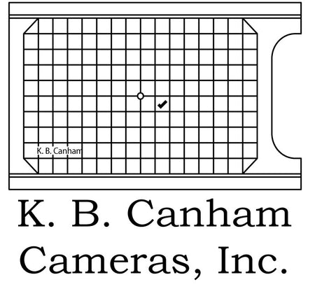 Canham 4x5 Ground Glass with Grid - viewcamerastore