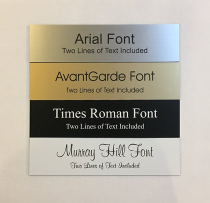 "2"" x 8"" Custom Laser Engraved Name Plate"