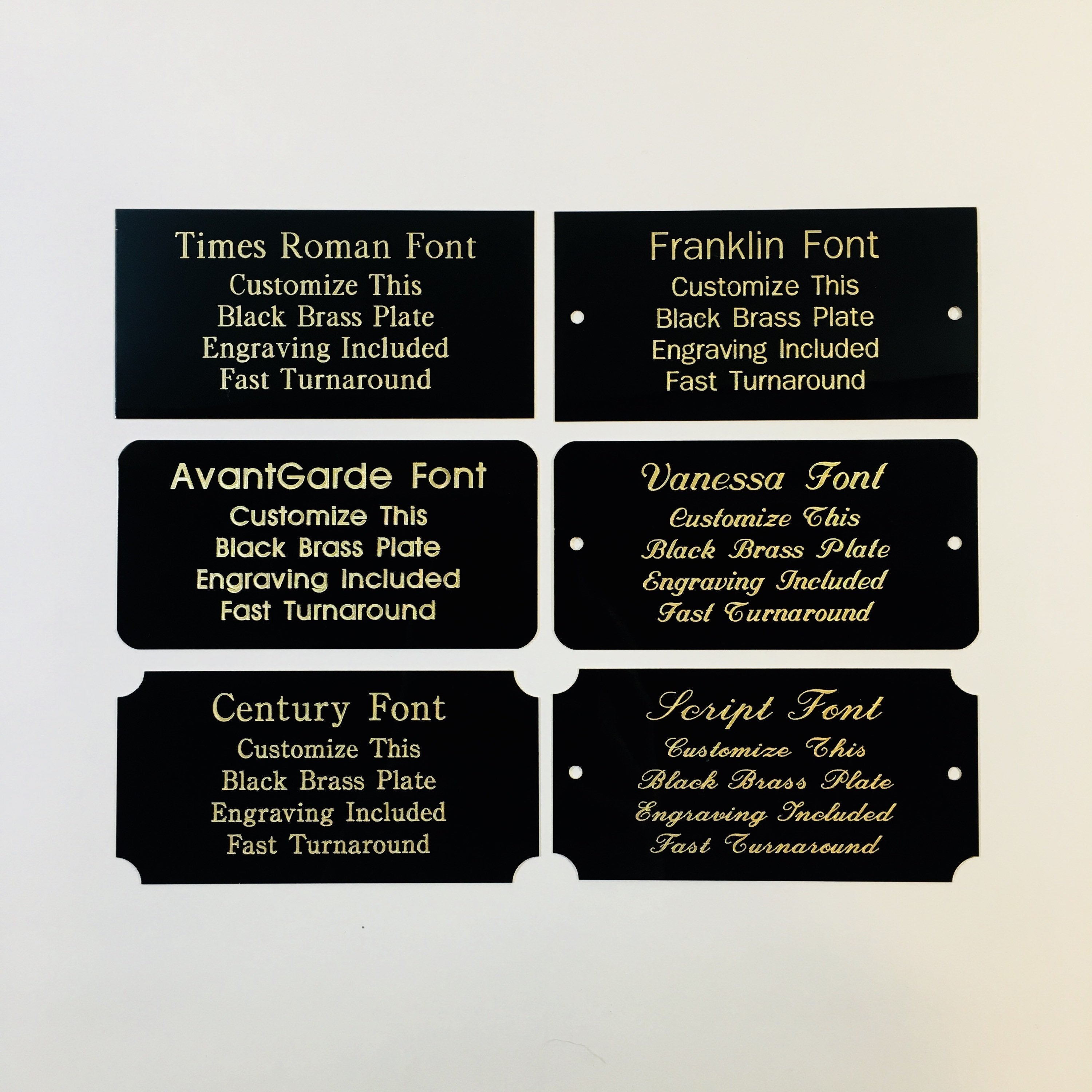Adhesive-Backed Personalized Customized Sign Plaque Custom Engraved 1x3 Plate