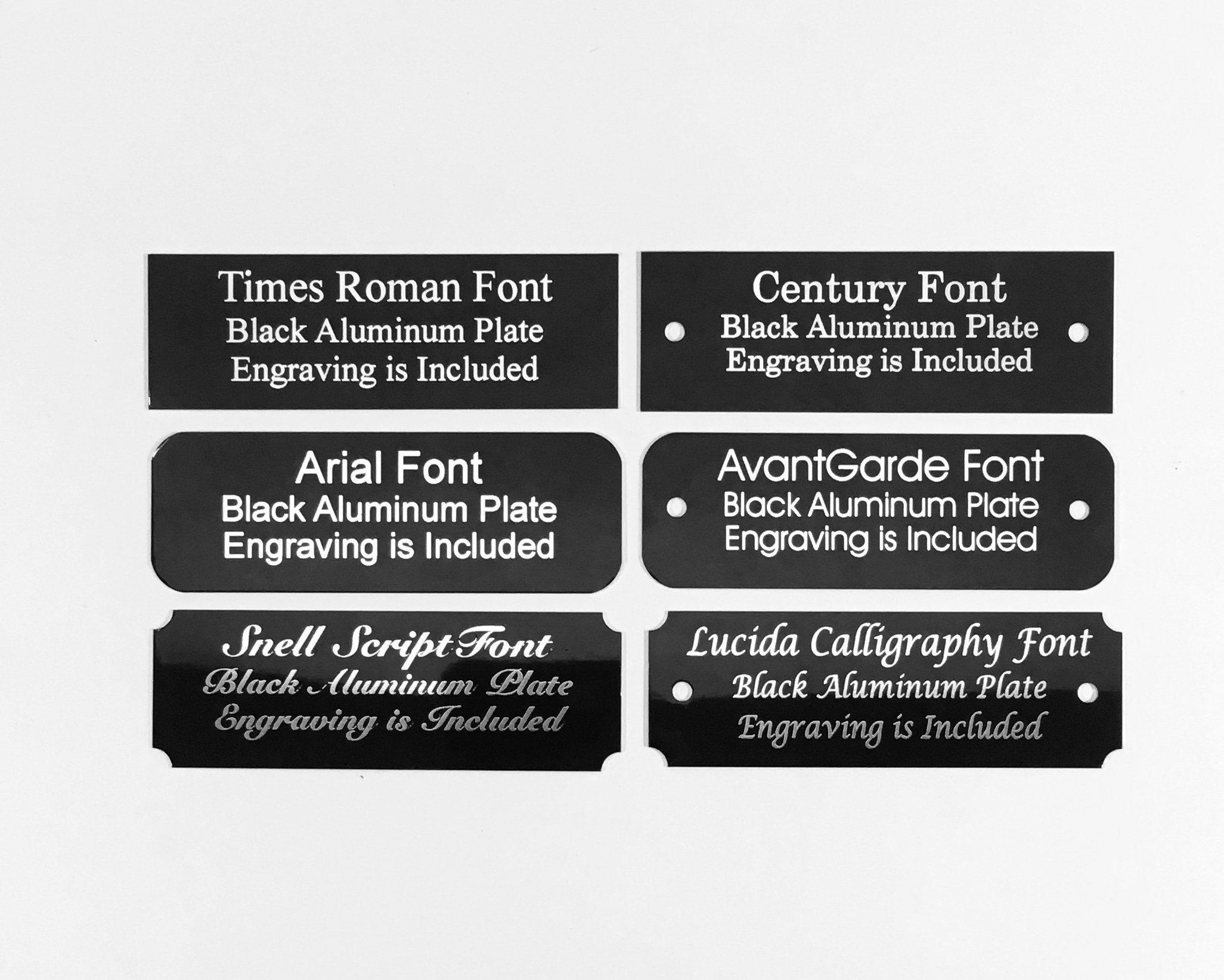 """1/""""x3/"""" ALUMINUM BLACK NAME PLATE GOLD COLOR LETTERS FOR TROPHIES GIFTS,"""